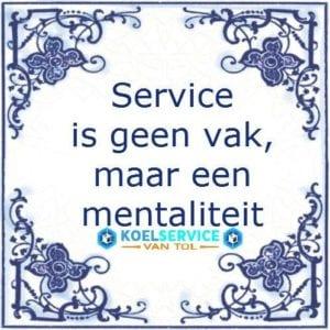 Service is geen vak, maar een mentaliteit